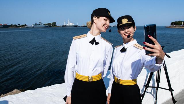 Участницы праздника ко Дню ВФМ в Балтийске