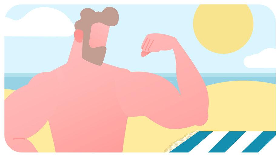 Калининградке швырнули песком в глаза за оголённое бикини: как отдыхают и «воюют» за пляж нудисты в Зеленоградске - Новости Калининграда   Иллюстрация: Александр Скачко / «Клопс»