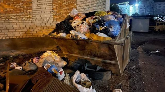 На Невского несколько дней не вывозят мусор из-за припаркованных авто (фото)