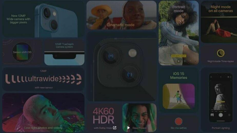 Фрагмент презентации Apple