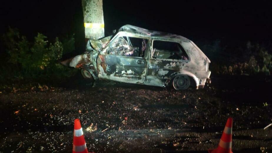 Под Неманом Volkswagen врезался в дерево и загорелся, водитель скончался - Новости Калининграда   Фото: пресс-служба регионального УМВД
