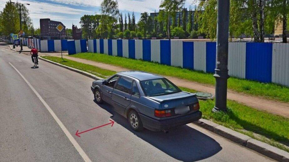 В Калининграде эвакуируют машины из-за сплошной линии разметки - Новости Калининграда | Скриншот сервиса Яндекс.Карты
