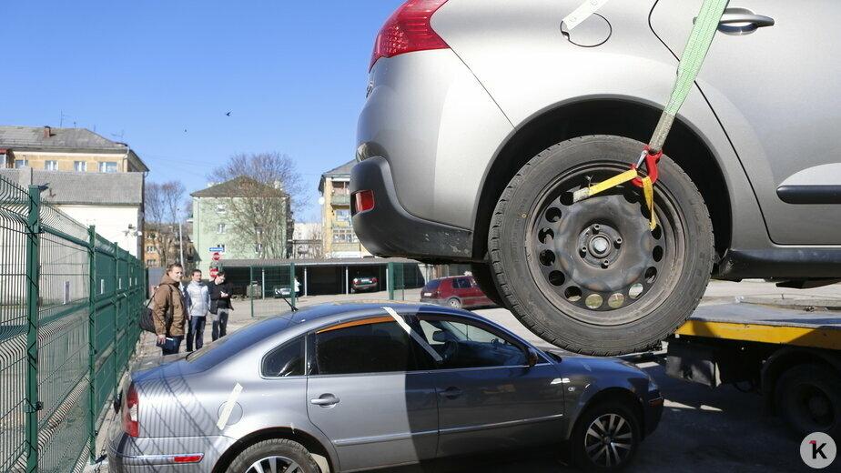 В Калининграде эвакуируют машины из-за сплошной линии разметки - Новости Калининграда | Фото: архив «Клопс»