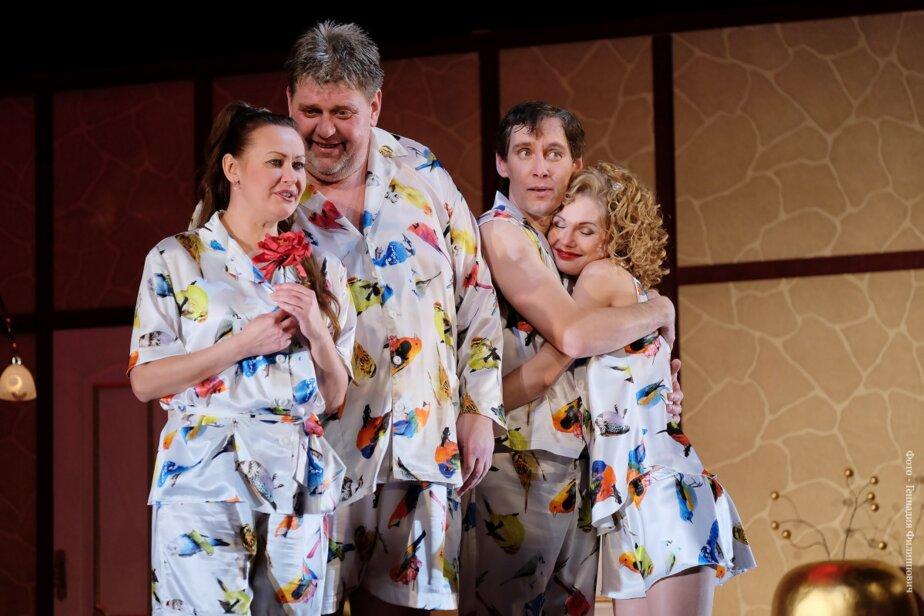 Сцена из спектакля «Пижама на шестерых»   Фото предоставлено организаторами