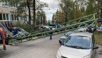 В Космодемьянском упавшая эстакада заблокировала дорогу (фото)