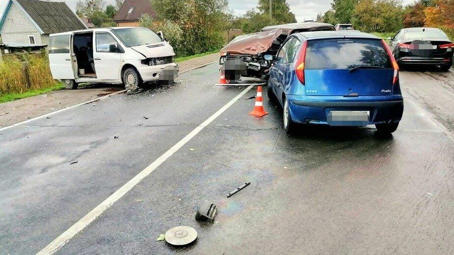 В Калининграде произошло ДТП с участием четырёх автомобилей - Новости Калининграда