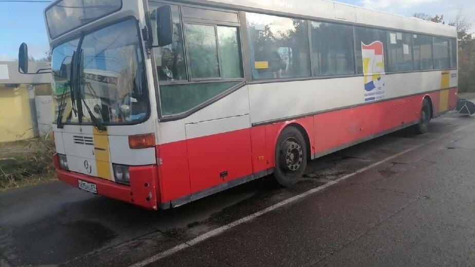 В Калининграде пенсионерка получила травмы, упав в автобусе - Новости Калининграда | Фото: ГИБДД региона