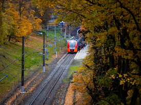 Фото дня: осень, спешка, «Ласточка»