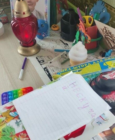 Сестрёнка оставила прощальную записку для Семёна | Фото: семейный архив
