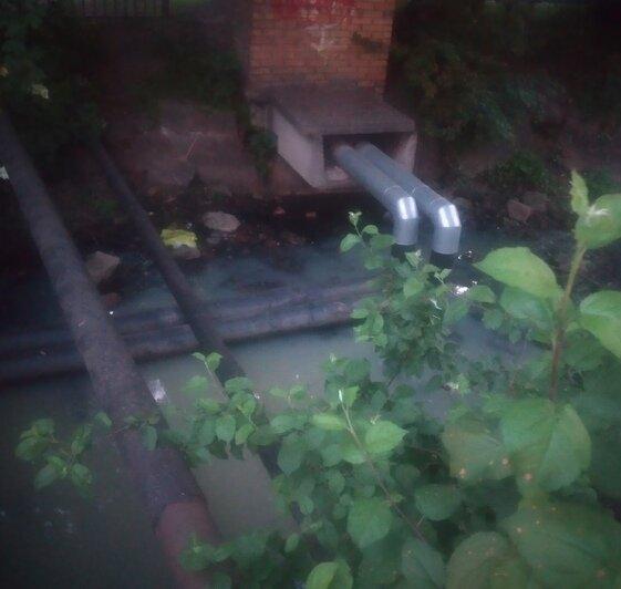 Мутная вода и зловоние: в Калининграде снова сбрасывают стоки в реку Лесную - Новости Калининграда | Фото: Юрате Пилюте