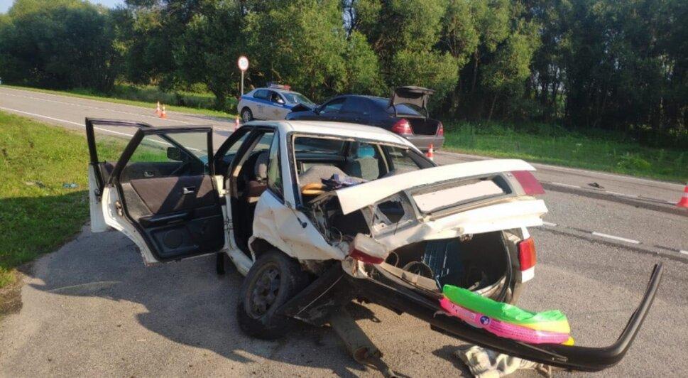 В Краснознаменском районе годовалый ребёнок получил травмы после столкновения Mercedes и Audi - Новости Калининграда | Фото: пресс-служба регионального УМВД