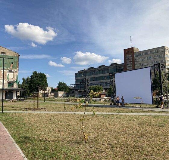 На набережной Советска установили экран для бесплатных кинопоказов - Новости Калининграда   Сообщество: HafenSpeicher in Tilsit / «ВКонтакте»