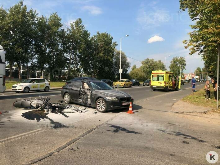 На Невского мотоциклист погиб в аварии с BMW (фото, видео) - Новости Калининграда   Фото: «Клопс»