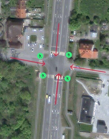 Так сейчас выглядит движение на перекрёстке в Сосновке