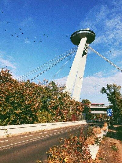 НЛО в Братиславе — знаменитая обзорная площадка и ресторан   Фото: личный архив